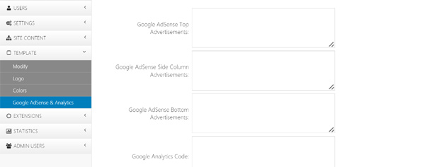 php job software google adsense google analytics
