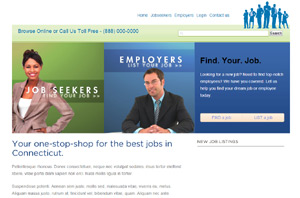 template for jobs portal php