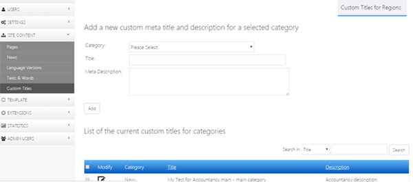 custom seo titles meta tags job software